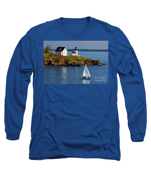 Curtis Island Lighthouse - D002652b Long Sleeve T-Shirt