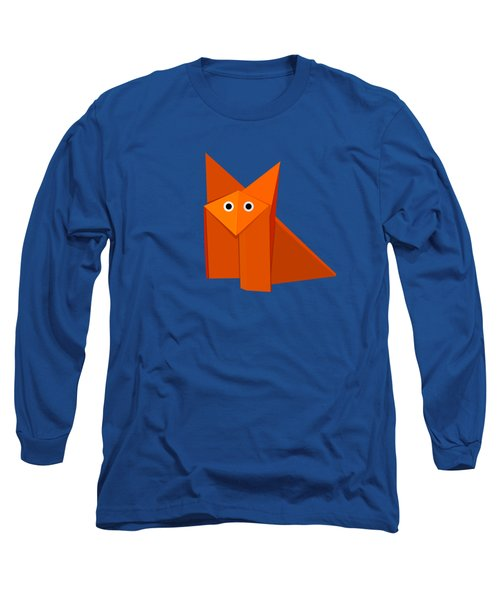 Cute Origami Fox Long Sleeve T-Shirt