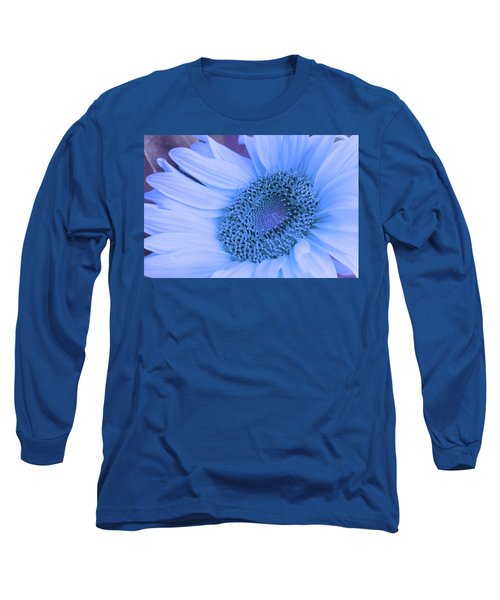 Long Sleeve T-Shirt featuring the photograph Daisy Blue by Marie Leslie