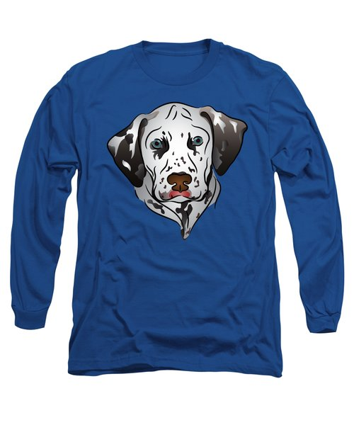 Dalmatian Portrait Long Sleeve T-Shirt by MM Anderson