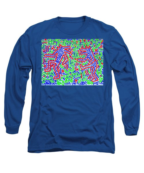 Dancing Dogs After Keith Haring 1958-90 Long Sleeve T-Shirt