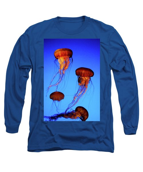 Long Sleeve T-Shirt featuring the photograph Dancing Jellyfish by Anthony Jones