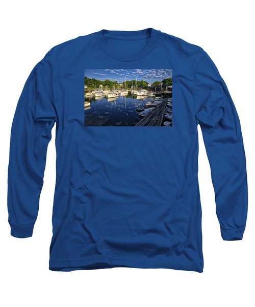 Dawn At Perkins Cove - Maine Long Sleeve T-Shirt by Steven Ralser