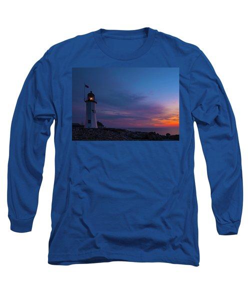 Dawn At Scituate Light Long Sleeve T-Shirt