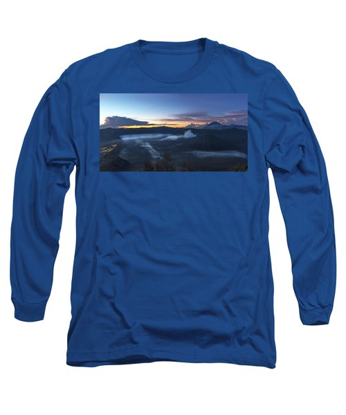 Dawn Breaking Scene Of Mt Bromo Long Sleeve T-Shirt