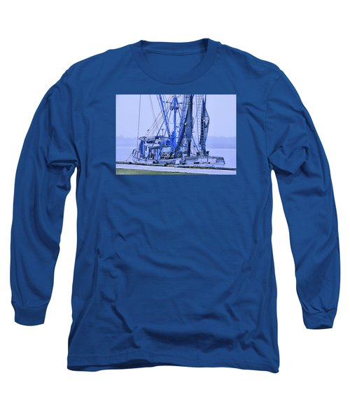 Long Sleeve T-Shirt featuring the photograph Decked Out In Blue by Laura Ragland