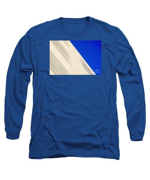 Deep Blue Sky And Office Building Wall Long Sleeve T-Shirt