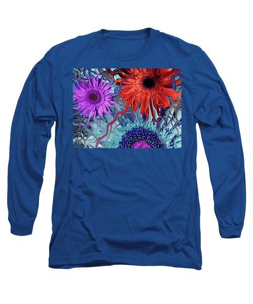 Deep Water Daisy Dance Long Sleeve T-Shirt