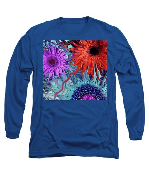 Deep Water Daisy Dance Long Sleeve T-Shirt