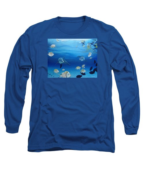 Delphinus Long Sleeve T-Shirt by Angel Ortiz