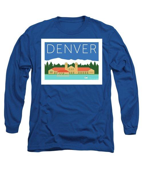 Denver City Park/blue Long Sleeve T-Shirt