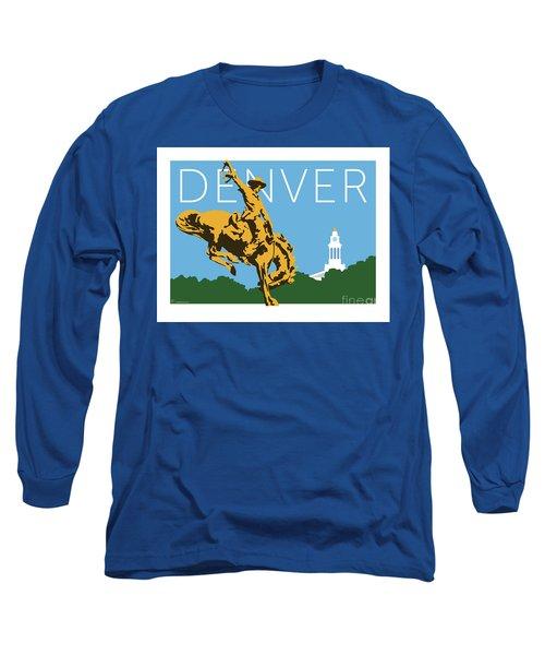 Denver Cowboy/sky Blue Long Sleeve T-Shirt