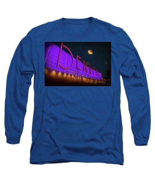 Denver Pavilion At Night Long Sleeve T-Shirt by Kristal Kraft