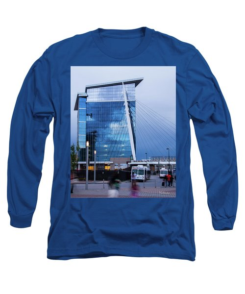 Denver Union Station And Milennium Bridge Long Sleeve T-Shirt