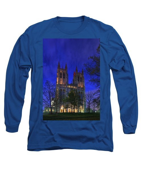 Digital Liquid - Washington National Cathedral After Sunset Long Sleeve T-Shirt