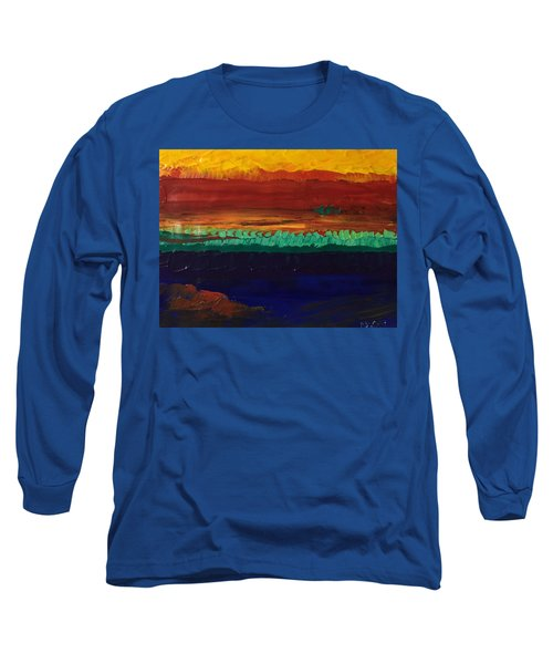 Long Sleeve T-Shirt featuring the painting Divertimento by Norma Duch