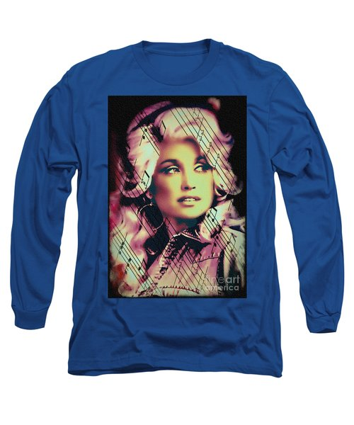 Dolly Parton - Digital Art Painting Long Sleeve T-Shirt