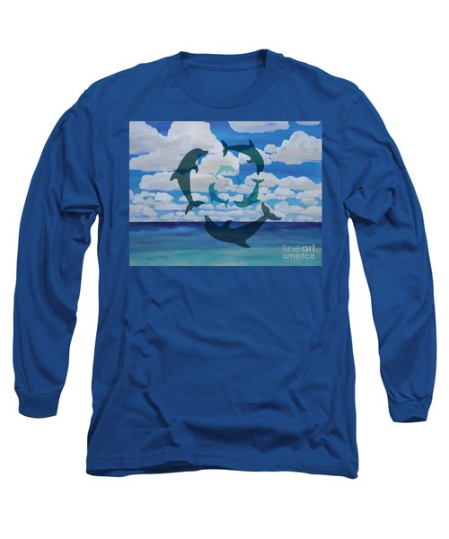Dolphin Cloud Dance Long Sleeve T-Shirt