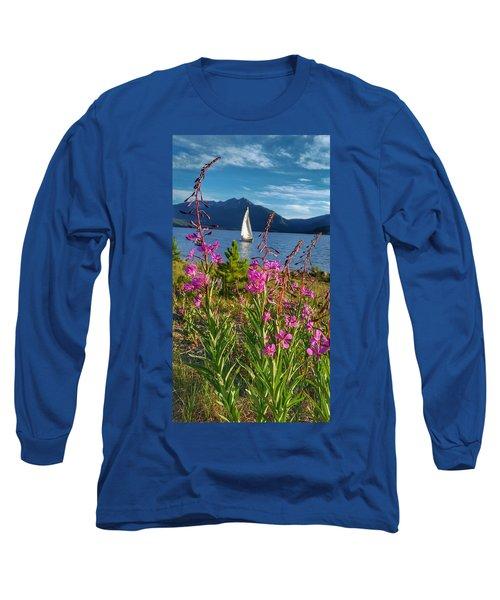 Don't Rush A Good Thing Long Sleeve T-Shirt by Fiona Kennard