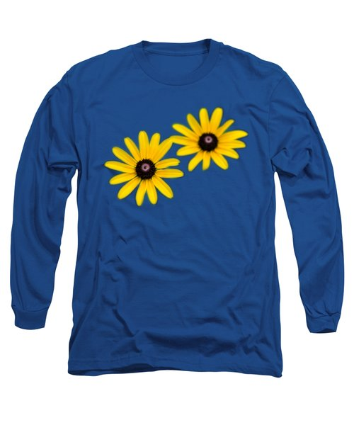 Long Sleeve T-Shirt featuring the photograph Double Daisies by Christina Rollo