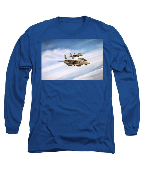 Long Sleeve T-Shirt featuring the digital art Double Nuts by Peter Chilelli