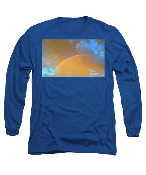 Double Rainbows In The Desert Long Sleeve T-Shirt