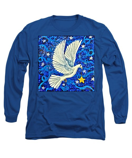Dove With Star Long Sleeve T-Shirt