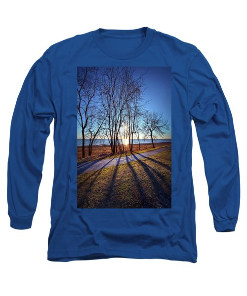 Long Sleeve T-Shirt featuring the photograph Down This Way We Meander by Phil Koch