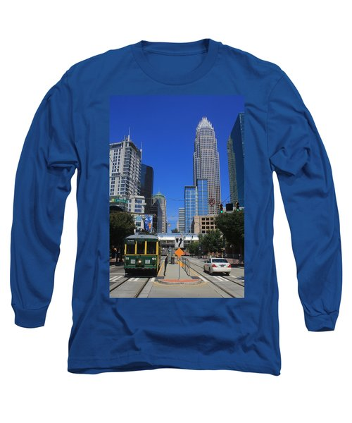 Downtown Charlotte Trolley 1  Long Sleeve T-Shirt