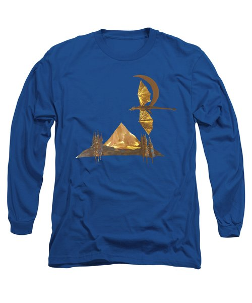 Dragon Of The Hood Long Sleeve T-Shirt by Troy Rider