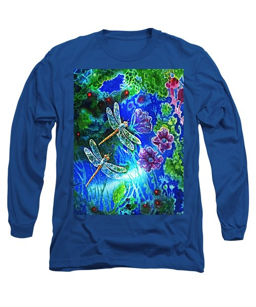 Dragonflies Long Sleeve T-Shirt by Hartmut Jager