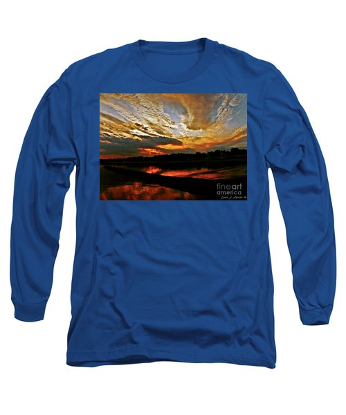 Drama In The Sky At The Sunset Hour Long Sleeve T-Shirt by Carol F Austin