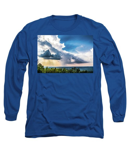 Long Sleeve T-Shirt featuring the photograph Dramatic Sunrays Over The Valley by Shelby Young