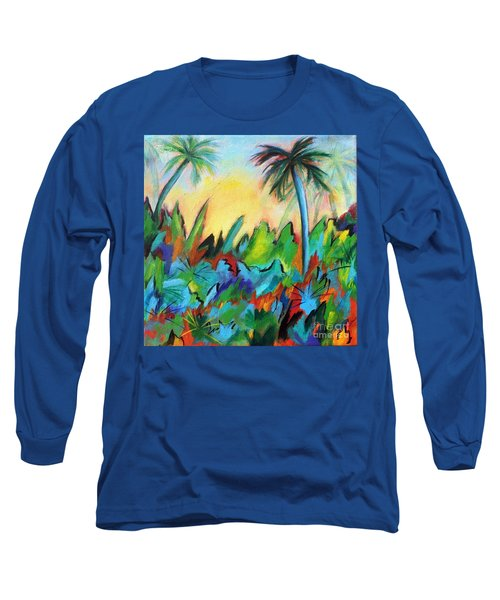 Drawn By The Color Long Sleeve T-Shirt by Elizabeth Fontaine-Barr