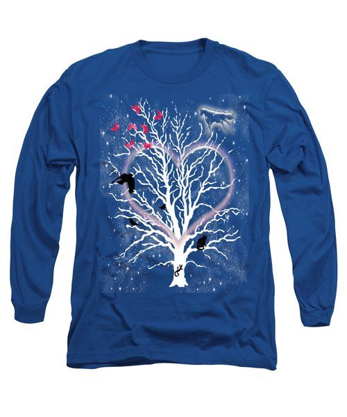 Dreamcatcher Tree Long Sleeve T-Shirt by Methune Hively