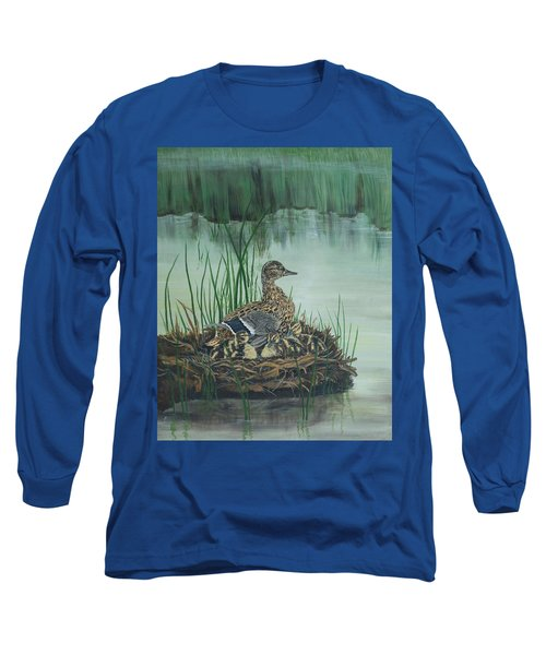 Ducks In Lifting Fog Long Sleeve T-Shirt