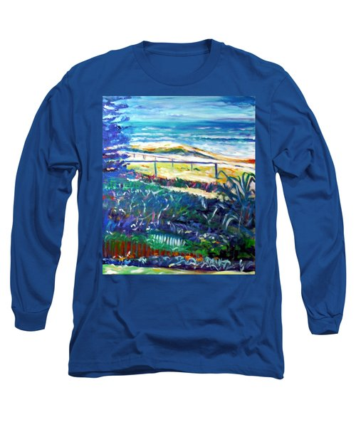 Long Sleeve T-Shirt featuring the painting Dune Grasses by Winsome Gunning