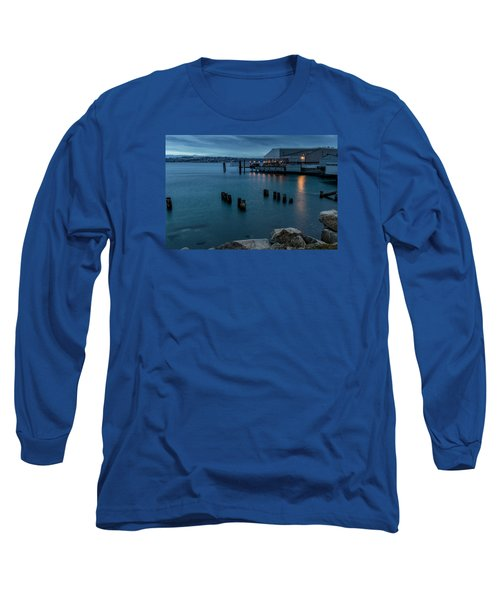 Dusk Falls Over The Lobster Shop Long Sleeve T-Shirt by Rob Green