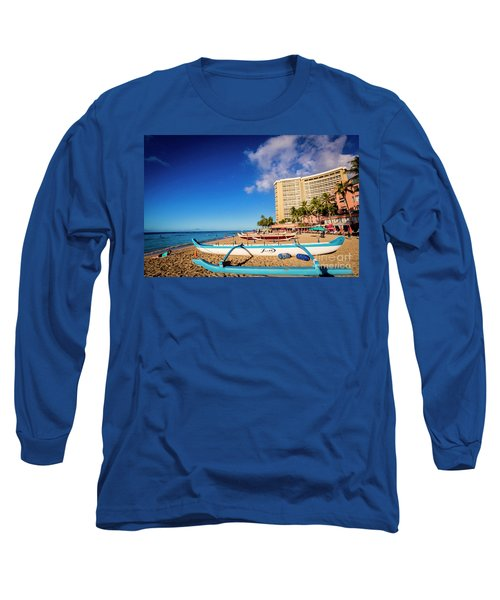 Early Morning At Outrigger Beach,hawaii Long Sleeve T-Shirt