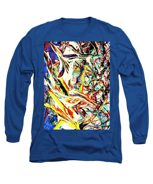 Long Sleeve T-Shirt featuring the painting Earth Quaked by Elf Evans