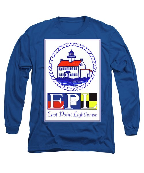 Long Sleeve T-Shirt featuring the digital art East Point Lighthouse Poster - 2 by Nancy Patterson