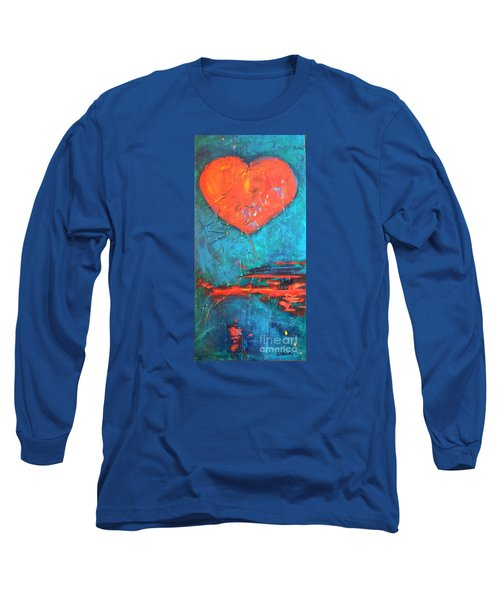 Long Sleeve T-Shirt featuring the painting East Winds by Diana Bursztein