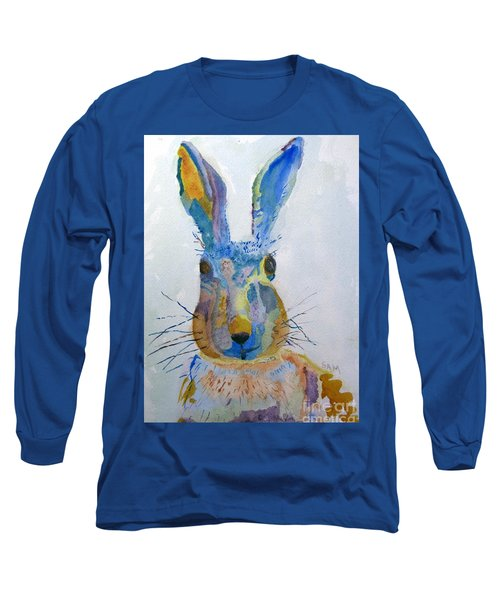 Easter Bunny Long Sleeve T-Shirt by Sandy McIntire