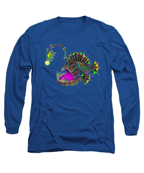 Electric Angler Fish Long Sleeve T-Shirt by Tammy Wetzel