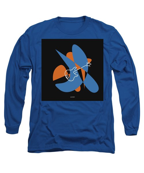 Electric Bass In Blue Long Sleeve T-Shirt