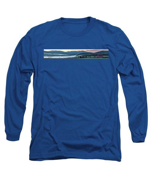 Elk River Fog At Sunrise Long Sleeve T-Shirt