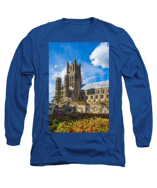 Ely Cathedral And Garden Long Sleeve T-Shirt