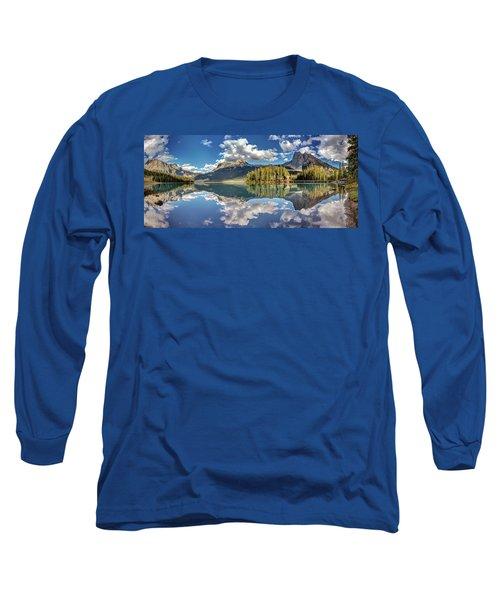 Emerald Lake Panorama Long Sleeve T-Shirt