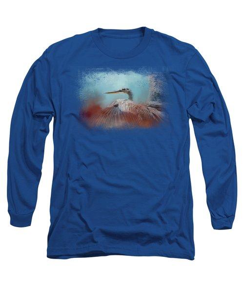 Emerging Heron Long Sleeve T-Shirt