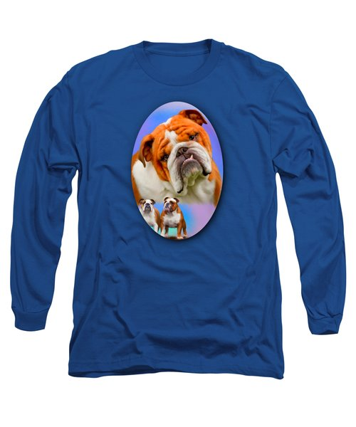 English Bulldog- No Border Long Sleeve T-Shirt
